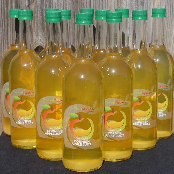 12 bottle case of Cornish Apple Juice