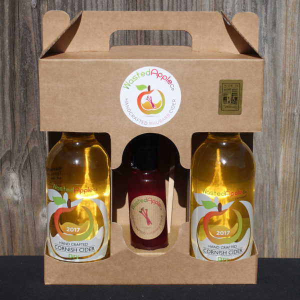 3 bottle presentation case of Rhubarb Fruit Cider