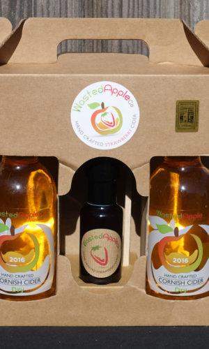 3 bottle presentation case of Strawberry Fruit Cider