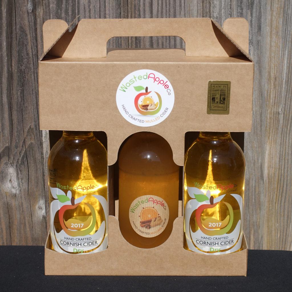 3 bottle presentation box of Mulled Cider