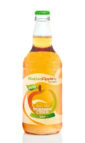 Bottle Of Cider With Apples