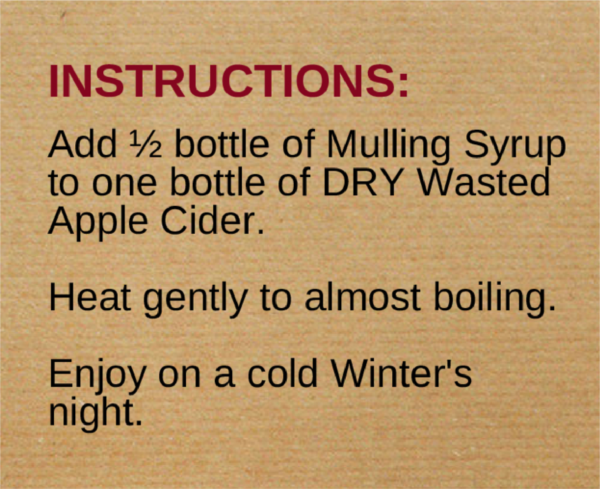 Mulled Cider Kit Instructions