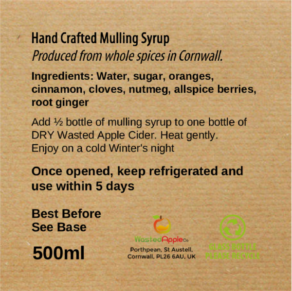 Mulling Syrup Label